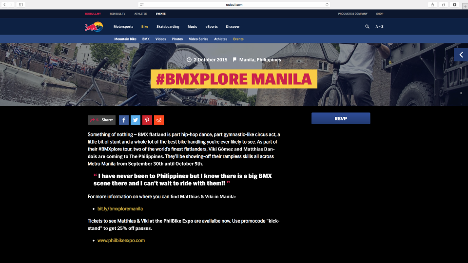 BMXplore Manila, PH Sep:Oct 2015